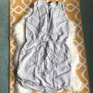 100% linen tommy bahama dress size M gray/silver